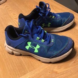 Boys Under Armour shoes.